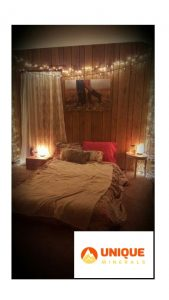 Salt Lamp in Bed Room